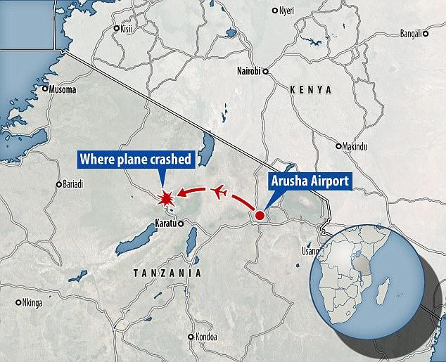 Tanzania Aeroplane Crush 2017
